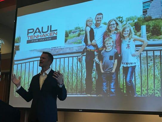 Paul Ten Haken announces he is running for mayor Tuesday