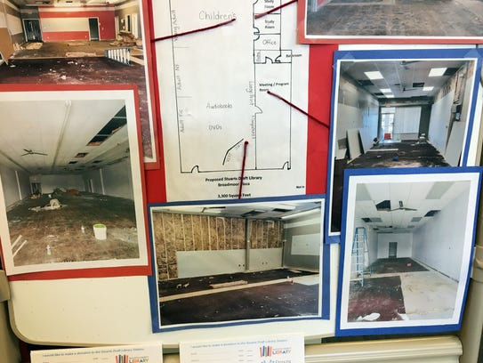 Plans for the Stuarts Draft library station project,