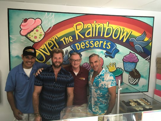 The mural at Over the Rainbow Desserts in Palm Springs