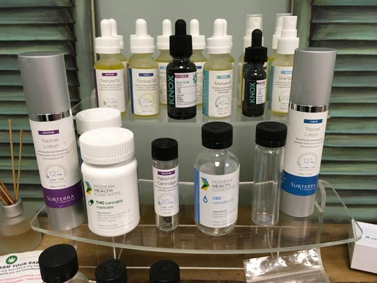 Examples of different medical marijuana products a