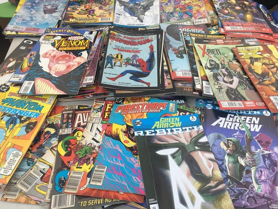 Table of comic books for children to enjoy