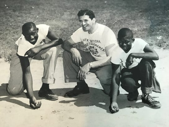 Tilton Holt (left) was the first African-American Veterans