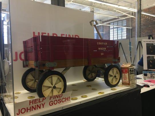 Johnny Gosch's red wagon, which was left behind when