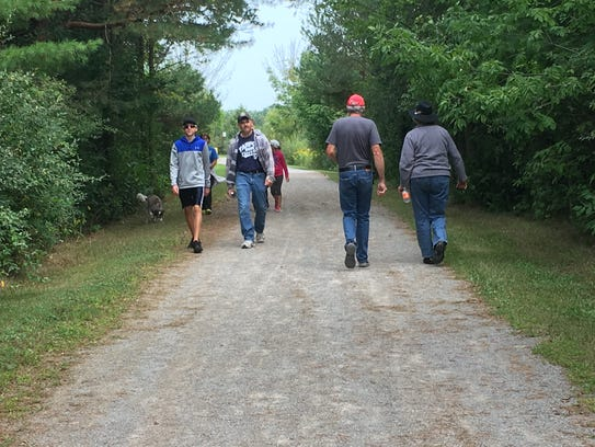 Locals participate in the Trek the Trestle Trail Walk