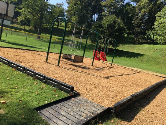 The new ADA accessible playground at Gypsy Hill Park