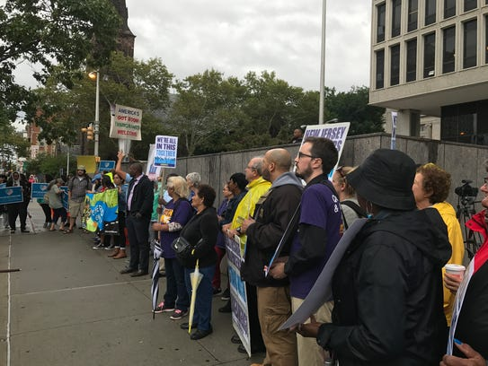 Around 100 people turned out for a DACA rally in Newark