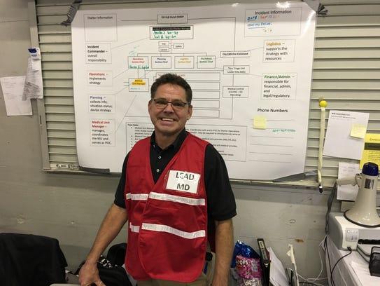 Dr. Brian Martin, associate professor in Emergency
