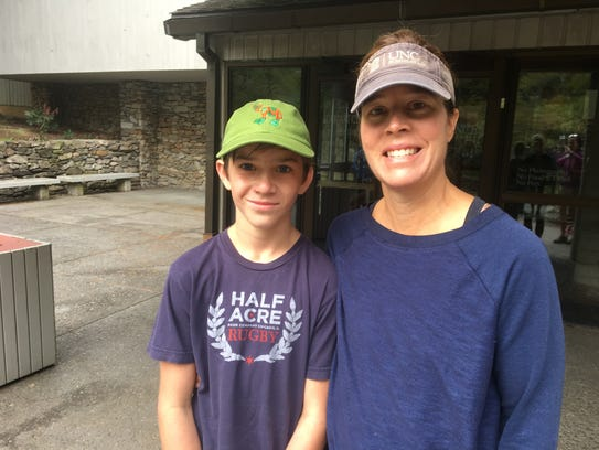 Asheville Mayor Esther Manheimer and her son, Greyson