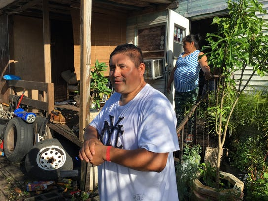 Alex Gomez, a resident of the Palms mobile home park