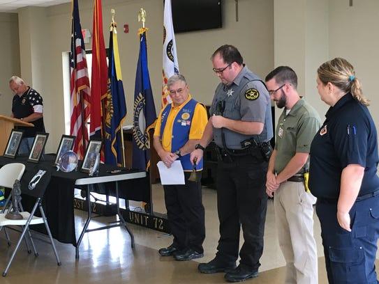 Stewart County Deputy Scott Bickford, third from left,