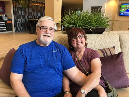 Larry and Carla Minton were rescued from their home