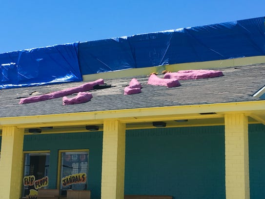 The landmark large pink octopus is missing from the