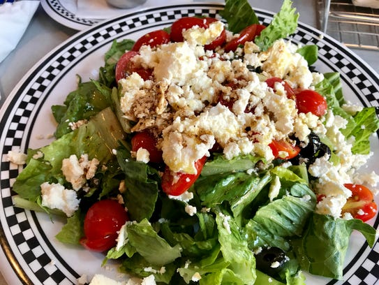 The Greek salad from PrimaFila Pizza in downtown Fort