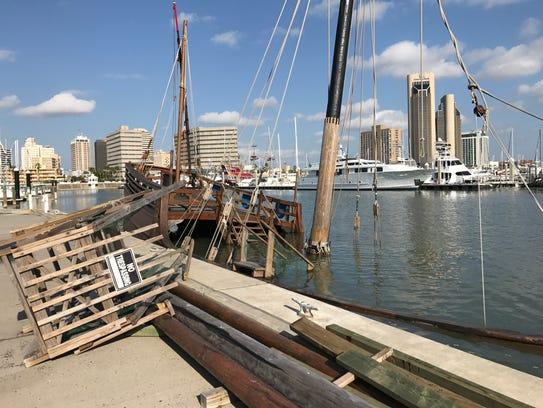 La Niña replica ship sunk after Hurricane Harvey hit