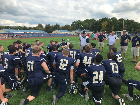 Susquehanna Valley coach Mike Ford addresses his players