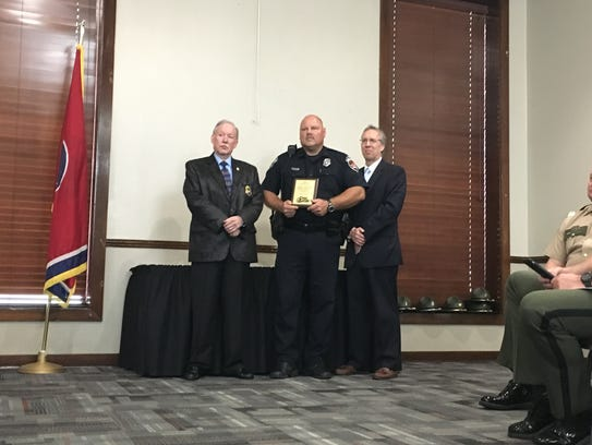 Officers from local agencies were honored at the annual
