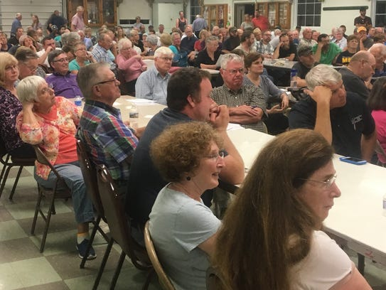 About 250 people attended a meeting on Tuesday, Sept.