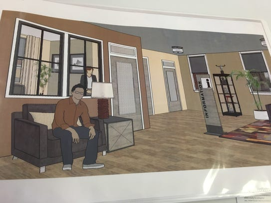 Photo of renderings of what the Staunton Innovation