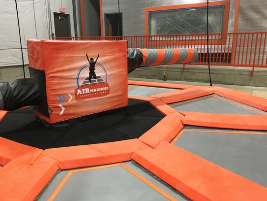 The Wipe-Out at Air Madness Trampoline Park in Harrisburg.