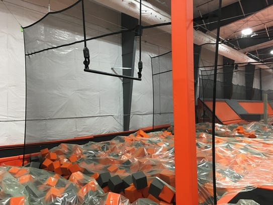 The foam pit at Air Madness Trampoline Park in Harrisburg.