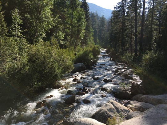 Fish Creek in Cascade Valley west of Mammoth Lakes,