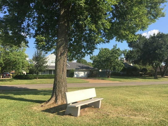 For the third time in four months, the Bossier City Council is revisiting the issue of whether the City of Bossier City should subsidize city water that supports trees, grass and plants in common areas and cul-de-sacs of subdivisions. Pictured is a green space in GreenAcres.