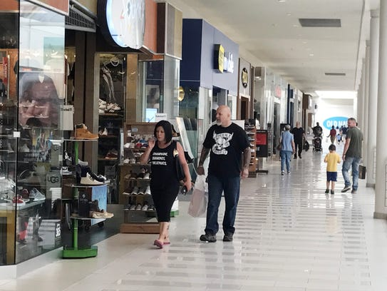 Shoppers in the Poughkeepsie Galleria on Saturday Sept.