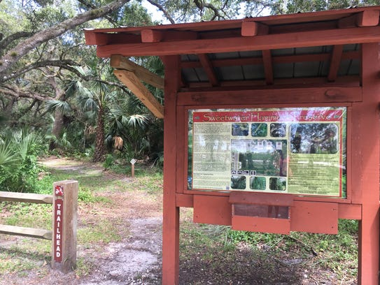 At Sweetwater Hammock Preserve, the waterway that connects