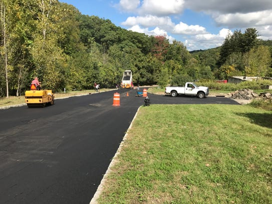 Road paving is underway this week near the Lakeside