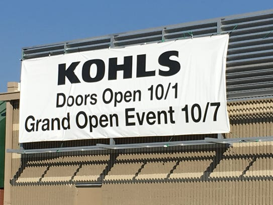 The new 35,000-square-foot Kohl's store near Hunt and