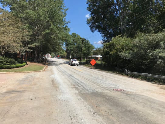 Edwards Road in Greenville County is stripped down