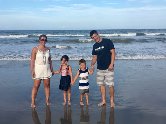Lindsey Collinsworth and her daughter relished time at the beach last summer with her boyfriend and his son. The couple is now engaged and expecting a baby boy.