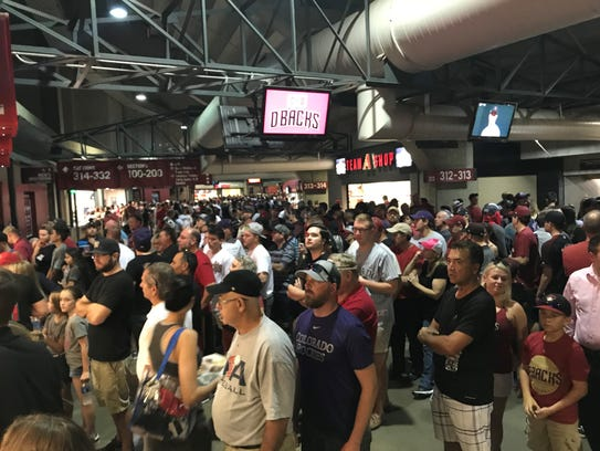 Long lines at concession stands didn't seem to bother