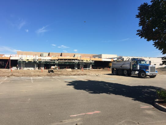 Construction at Lancaster Mall in Salem, Ore., on Oct.