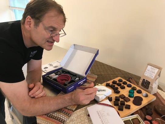 Konny Zsigo, owner and chocolatier of Masters of Confection,