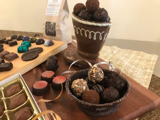 Some of Konny Zsigo's chocolate creations - a chocolate