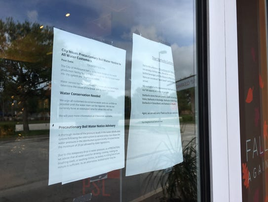 Starbucks on Wickham Road informs customers how boil
