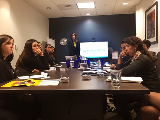 Four female entrepreneurs from Tajikistan hear about