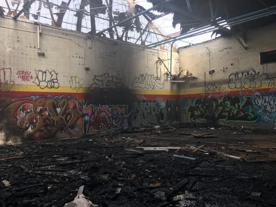 The Kronk Gym is in charred ruins following a fire