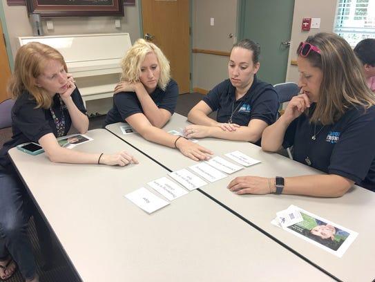 A group of Avalon Elementary School teachers complete