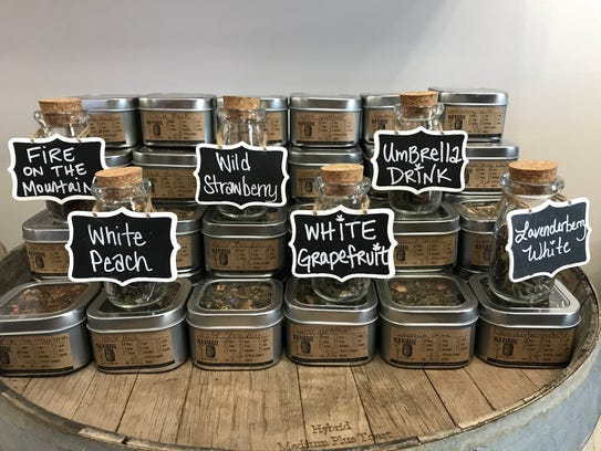 Old Barrel Tea & Spice Company in Mesilla offers a selection of tea blends for customers to purchase.