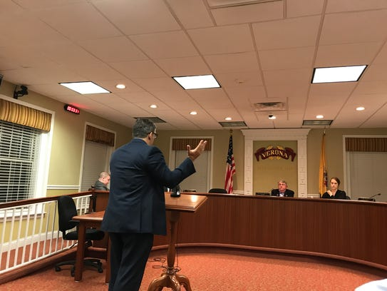 Manor Road resident Tom Francullo raises concerns about