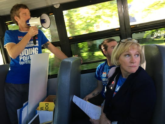 Iowa Democratic candidate for governor Cathy Glasson