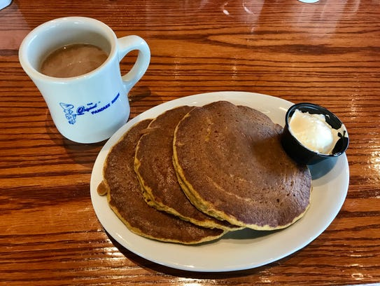 Pumpkin pancakes at Original Pancake House in Ankeny.