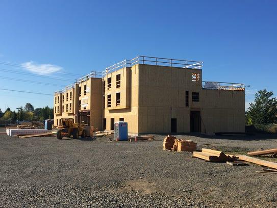 Construction at 6150 Keizer Station Blvd. NE in Keizer, Oregon, on Oct. 4, 2017.
