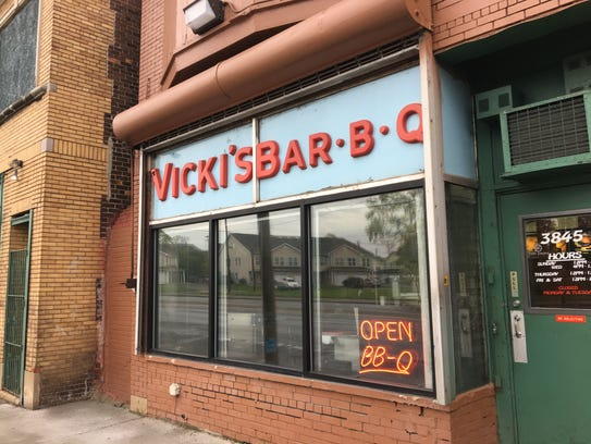 Vicki's BBQ, which is located on Warren Avenue.