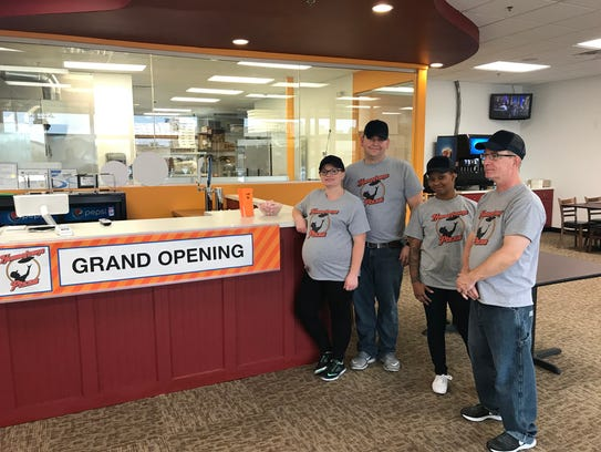 The opening staff of Hometown Pizza in West Des Moines,