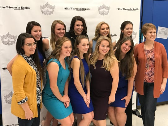 Contestants pose with Miss Wisconsin Rapids Area Scholarship