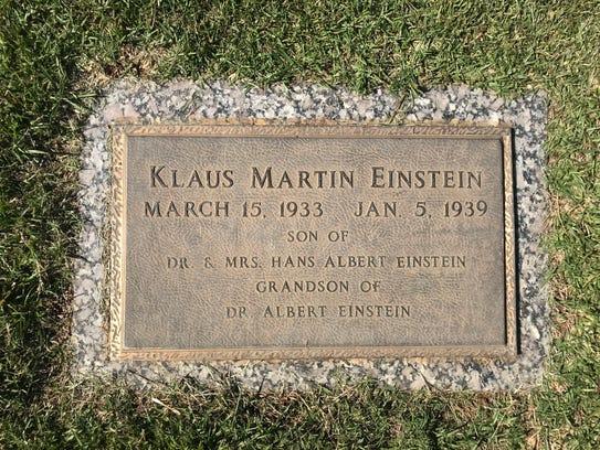 Klaus Martin Einstein, grandson of Albert Einstein,