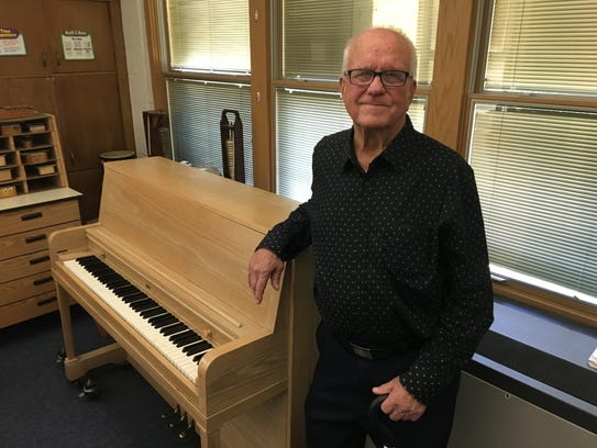 Ted Hull at the Marble School music room in September